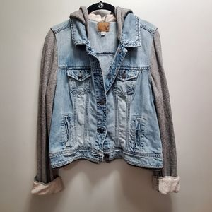AMERICAN EAGLE DENIM SWEATSHIRT JACKET- SIZE XL
